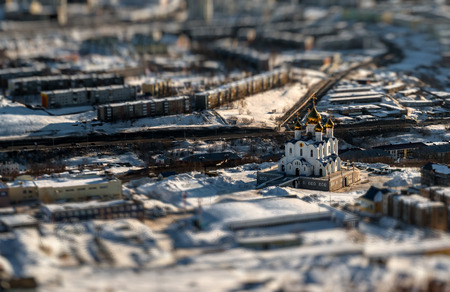 the far east: Holy Trinity Cathedral  Petropavlovsk-Kamchatsky, Far East, Russia  Image with an tilt-shift effect