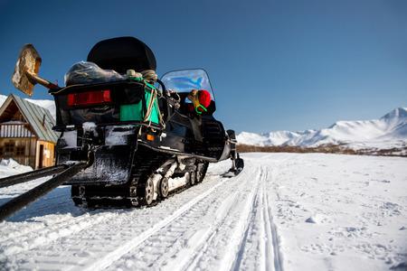 snowbanks: Snowmobile  Kamchatka, Far East, Russia