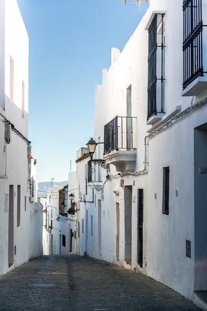 cadiz: Narrow street of Vejer de la Frontera  Costa de la Luz, Spain