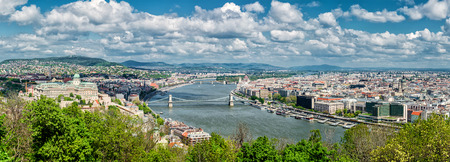 Panoramic view of Budapest city  Budapest, Hungary  photo