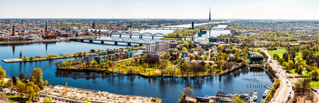 Panorama of Riga city  Latvia Stock Photo