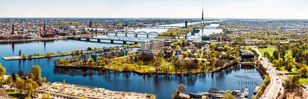 Panorama van de stad Riga Letland Stockfoto