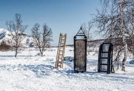 snowbanks: Nalychevo Nature Park  Kamchatka, Russia
