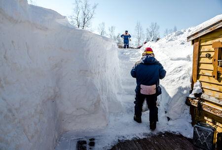 far east: Pen�nsula de Kamchatka en la primavera de Extremo Oriente de Rusia Foto de archivo