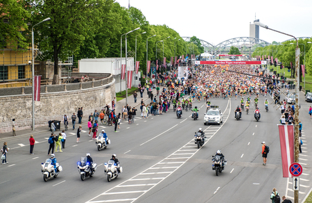 gained: LATVIA, RIGA-18 may,2014:The 24th Nordea Riga marathon,at this time the marathon gained international recognition and previous marathon on 2013 gathered 22020 runners from 65 countries on 18 may 2014