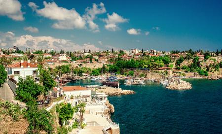turkey beach: Antalya harbor  Turkey Stock Photo