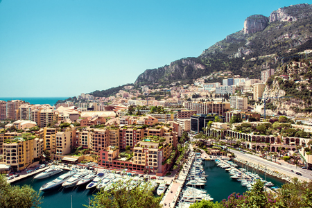 principality: View of Fontvieille  Principality of Monaco Stock Photo