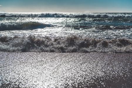 cadiz: Ocean waves  Cadiz, Spain Stock Photo