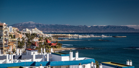 Beautiful view of Benalmadena coast  Malaga, Spain photo