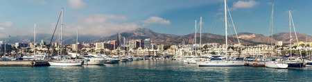 Benalmadena, Spain-19 December, 2013:Day view of Puerto Marina, that has won the title of Best Marina in the World several times. It has a very unusual and modern architecture on 19 december, 2013