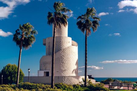 mirador: View of Torre Mirador in the Battery Park  Torremolinos, Spain Editorial