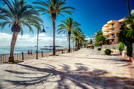 promenade: View of Ibiza seafront  Spain