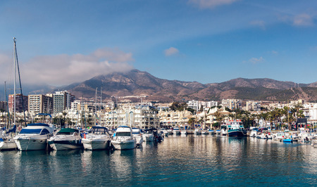 Day view of Puerto Marina  Benalmadena, Spain photo