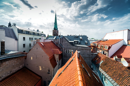 st james s: Riga Old Town rooftops  Latvia