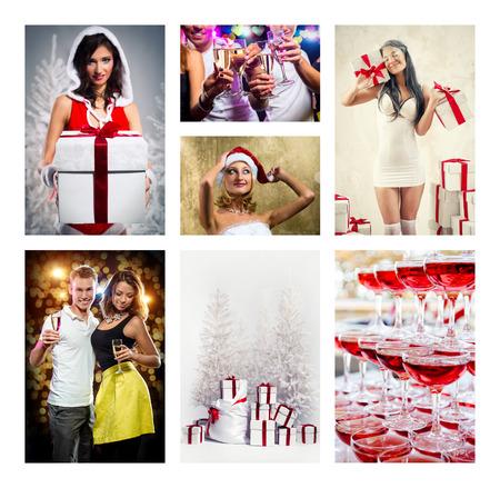 Christmas collage photo