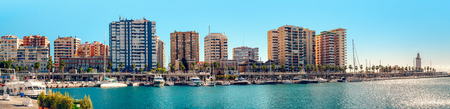 Panoramic view of Benalmadena harbor. Puerto Marina. Malaga, Spain photo