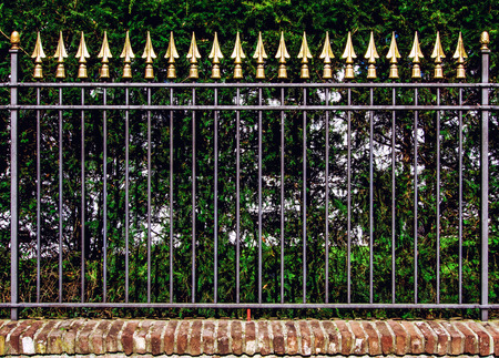 iron fence: Decorative iron fence