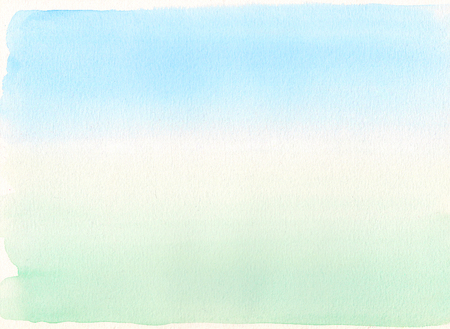 Watercolor gradient. Blue to green background photo