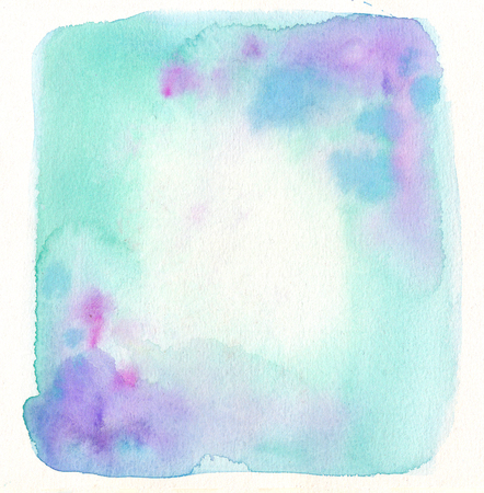 Watercolor frame photo