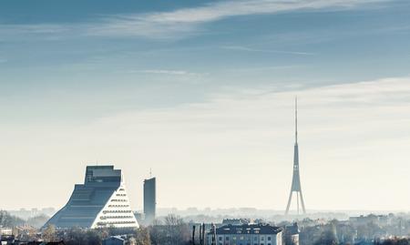 latvia: Riga city skyline. Latvia