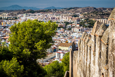 Malaga cityscape, view from the Gibralfaro fortress. Andalusia, Spain photo