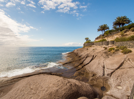 adeje: Picturesque El Duque beach in Tenerife. Canary islands, Spain Stock Photo