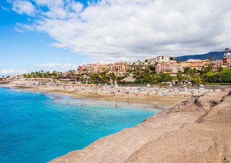 adeje: Picturesque El Duque beach in Costa Adeje. Tenerife. Canary islands, Spain Editorial