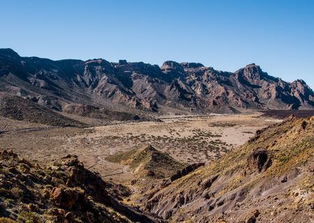 mountainscape: Desert landscape of Volcano Teide National Park. Tenerife, Canary Island. Spain