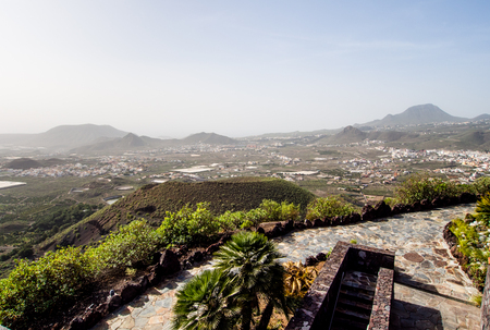 arona: Top view to Arona from the observation deck. Tenerife, Canary Islands Stock Photo