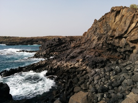 canary island: Ocean and stones.Tenerife, Canary Island