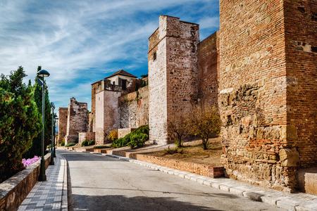 alcazaba: Gibralfaro fortress (Alcazaba de Malaga). Malaga city. Spain
