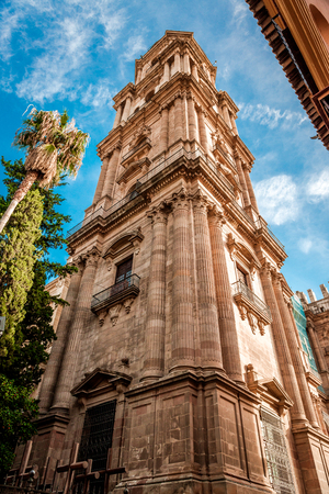 andalusia: Cathedral in Malaga, Andalusia, Spain Stock Photo