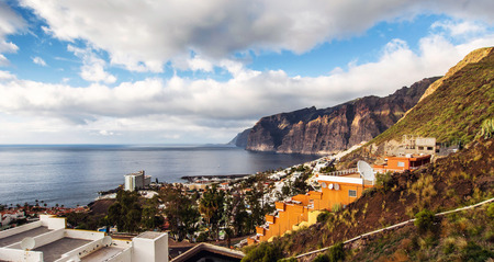 canary island: Picturesque Los Gigantes, is a resort in Tenerife. Canary Island, Spain