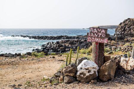 santo domingo: Santo Domingo beach. Tenerife. Canary islands, Spain