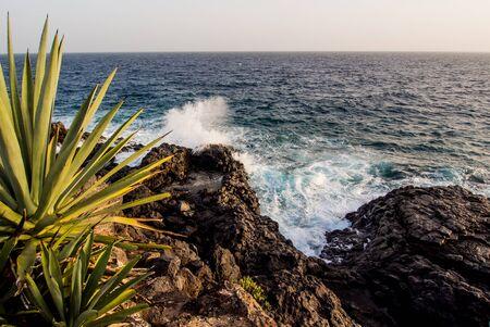 Rocky beach in Costa del Silencio. Tenerife, Canary Islands. Spain photo