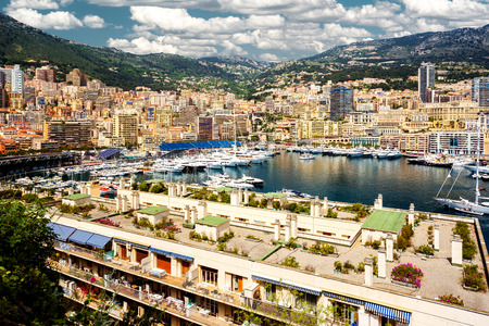 principality: Port Hercules in the principality of Monaco Stock Photo