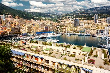 Port Hercules in the principality of Monaco Stock Photo