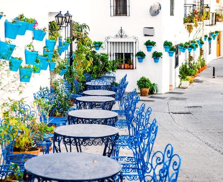 Rue Mijas. Village blanc de charme en Andalousie, Costa del Sol. Sud de l'Espagne Banque d'images - 39070870
