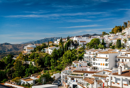spanish houses: Charming little white village of Mijas. Costa del Sol, Andalusia. Spain