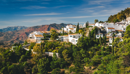 Charming little white village of Mijas. Costa del Sol Andalusia. Spain