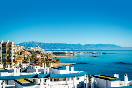 beaches of spain: Benalmadena coast. Benalmdena is a town in Andalusia in southern Spain Editorial