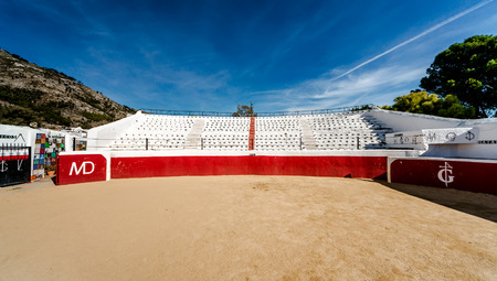 bull fight: Bullring in white village of Mijas. Built in 1900. Costa del Sol Andalusia Spain