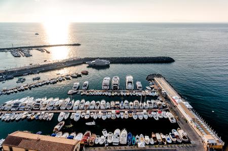 sorrento: Harbor at Piano di Sorrento. Italy Stock Photo
