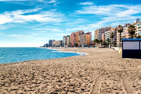 푸엔 해변입니다. 코스타 델 솔 (Costa del Sol). 말라가 안달루시아. 스페인
