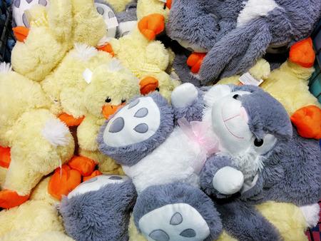 stuffed toys: Heap of stuffed toys Stock Photo
