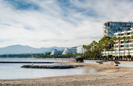 mediterranean house: Marbella beach. Costa del Sol. Malaga Andalusia. Spain
