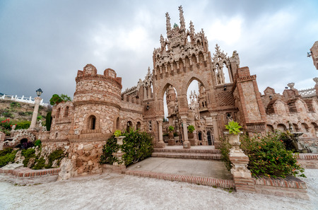 christopher: Colomares Castle. Castle dedicated to the explorer and navigator Christopher Columbus. Benalmadena town. Province of Malaga. Andalusia. Spain