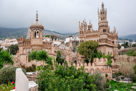 christopher columbus: Colomares Castle. Castle dedicated to the explorer and navigator Christopher Columbus. Benalmadena town. Province of Malaga. Andalusia. Spain