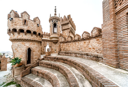 brick building: Part of Colomares Castle. Castle dedicated to the explorer and navigator Christopher Columbus. Benalmadena town. Province of Malaga. Andalusia. Spain