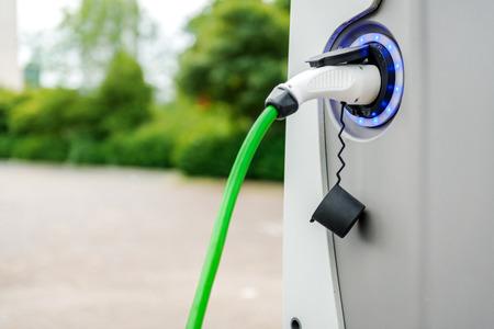 Opladen van elektrische voertuigen station